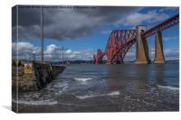 Forth rail bridge from the shore, Canvas Print