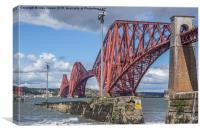 Forth rail bridge closeup, Canvas Print