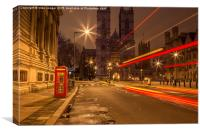 Westminster Abbey light show, Canvas Print
