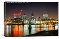 London's night skyline, Canvas Print