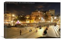chill time at Trafalgar square, Canvas Print