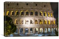 night fall at the Coliseum, Canvas Print