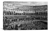 inside the Coliseum, Canvas Print