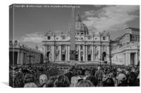 stPeter's Basilica Rome, Canvas Print