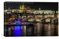 night time over Prague, Canvas Print