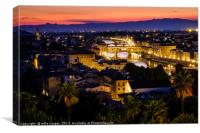 Florence over the Arno, Canvas Print