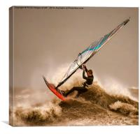 Windsurfing the Storm , Canvas Print