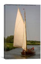 Traditional Norfolk Broads Cruiser, Canvas Print