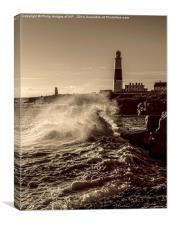 Portland Bill Storm, Canvas Print