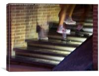 Footsteps , Canvas Print