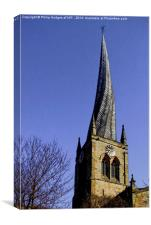 Chesterfield's Crooked Spire , Canvas Print