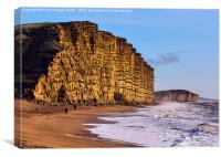 Jurassic Cliffs , Dorset, Canvas Print