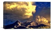 Clouds Over The Cuillins ( Painter version ), Canvas Print