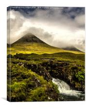 The Red Cuillins Under Cloud Cover, Canvas Print