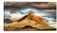 One of Skye's Red Cuillins, Canvas Print