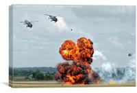 Yeovilton Airshow Commando Assault 2015  , Canvas Print