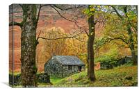 """""""Stone hideaway in the mountains"""", Canvas Print"""