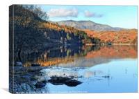 """Autumn reflections at the lake"", Canvas Print"