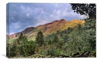 """Goat Crags"" Lake District, Canvas Print"