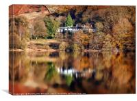 """Autumn reflections at Thirlmere 4 "", Canvas Print"