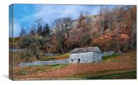 """Stone barn on the hillside"", Canvas Print"
