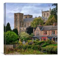 """Ripon Cathedral through the trees"", Canvas Print"