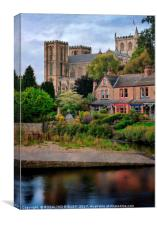 """River Ure and Ripon Cathedral"", Canvas Print"