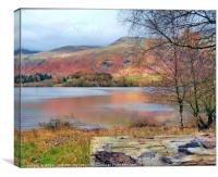 """Winding path across the lake"", Canvas Print"