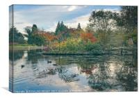 """Reflections at the lake Thorp Perrow"", Canvas Print"