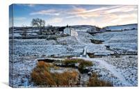 """Farmhouse in the snow"", Canvas Print"