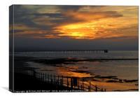 """Sunset over Steetley"", Canvas Print"
