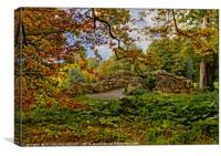 """Little stone bridge in the park"", Canvas Print"