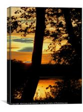 """Sunset across the lake"", Canvas Print"