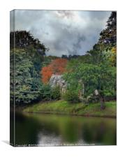 """Spooky Cottage by the river"", Canvas Print"