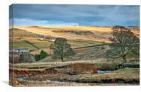 """Evening sun across Weardale"", Canvas Print"