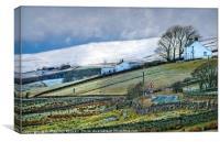 """""""A drive through Teesdale"""", Canvas Print"""