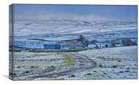 """Teesdale Winter"", Canvas Print"