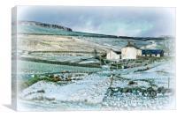 """Farmhouse in Teesdale"", Canvas Print"