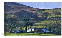"""""""Midday Winter sun on Loweswater Village"""", Canvas Print"""