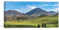 """""""Sunny day across the Lake District"""", Canvas Print"""