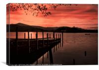 """""""Sunset at the Jetty"""", Canvas Print"""
