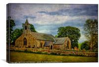 """St.Cuthbert's Church Elsdon"", Canvas Print"