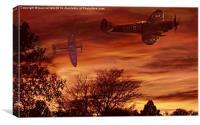 Supermarine Spitfires, Canvas Print