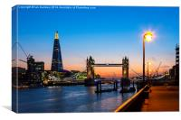 Tower Bridge and the Shard, Canvas Print