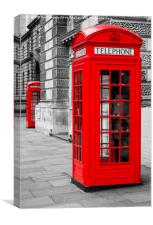 Red Telephones, Canvas Print