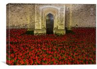 Poppies at the Tower Gate, Canvas Print