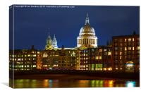 St Paul's Cathedral from the Southbank, Canvas Print