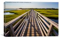 New England Walkway, Canvas Print