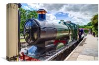 Train at Buckfastleigh, Canvas Print