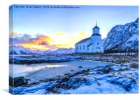 Lofoten Church, Canvas Print